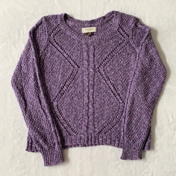 Sonoma Marled Cable Knit Sweater